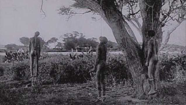 Linchamento de Hereros na actual Namíbia, quando o território era uma colónia alemã. © Direitos Reservados | All Rights Reserved