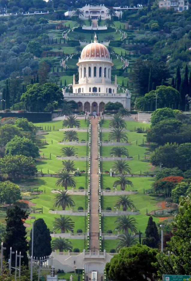 """O santuário de Báb, no Monte Carmelo, na cidade israelita de Haifa. Karmel) significa """"jardim"""" ou """"campo fértil"""") © Юкатан   Wikipedia"""