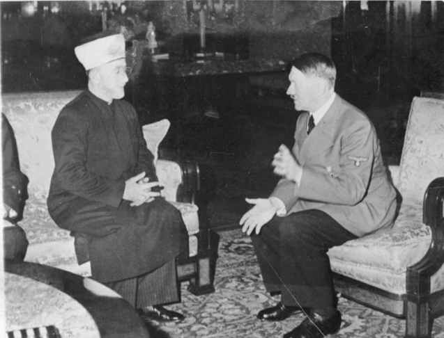 Haj Amin al-Husseini meeting with Hitler, in Germany © All Rights Reserved