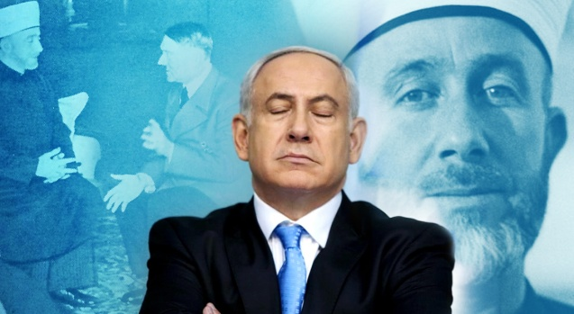 Israel's Prime Minister Benjamin Netanyahu told the World Zionist Congress that Hitler wanted to expel the Jews - but was convinced to exterminate them by Palestinian leader Haj Amin al-Husseini © countercurrentnews.com/