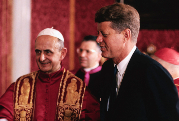 John F. Kennedy's meeting with Pope Paul VI at the Vatican - July 2, 1963 - was historic: the first Roman Catholic President of the United States was seeing the Church's pontiff only days after his inauguration © All Rights Reserved