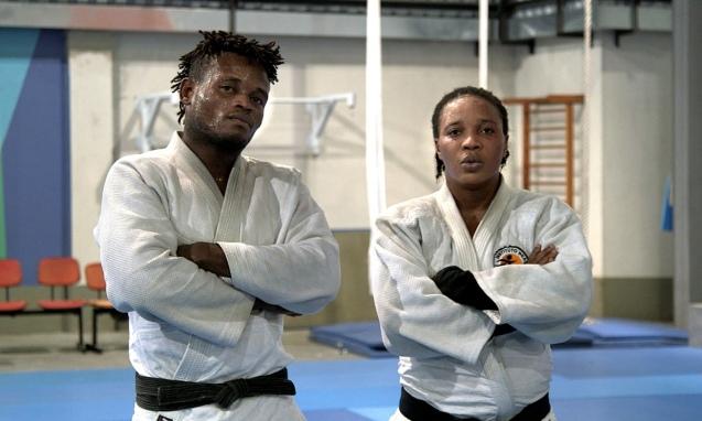 Popole Misenga e Yolande, atletas da República Democrática do Congo que encontraram um lugar para os seus sonhos no Brasil © ACNUR