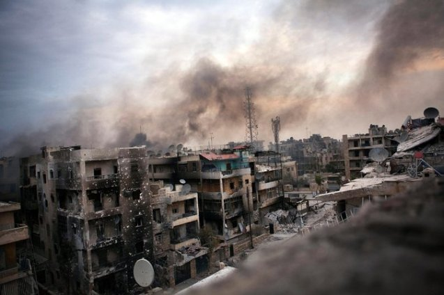 """Rebel resistance in the Syrian city of Aleppo ended on Tuesday, December 13, 2016, after years of fighting and months of bitter siege and bombardment that culminated in a bloody retreat, as insurgents agreed to withdraw in a ceasefire"", Reuters agency reported. ""[It was a] victory for Syrian President Bashar al-Assad and his military coalition of Russia, Iran and regional Shi'ite militias. However, the war will still be far from over, with insurgents retaining major strongholds elsewhere in Syria, and the jihadist Islamic State group holding swathes of the east and recapturing the ancient city of Palmyra"" © The New York Times"
